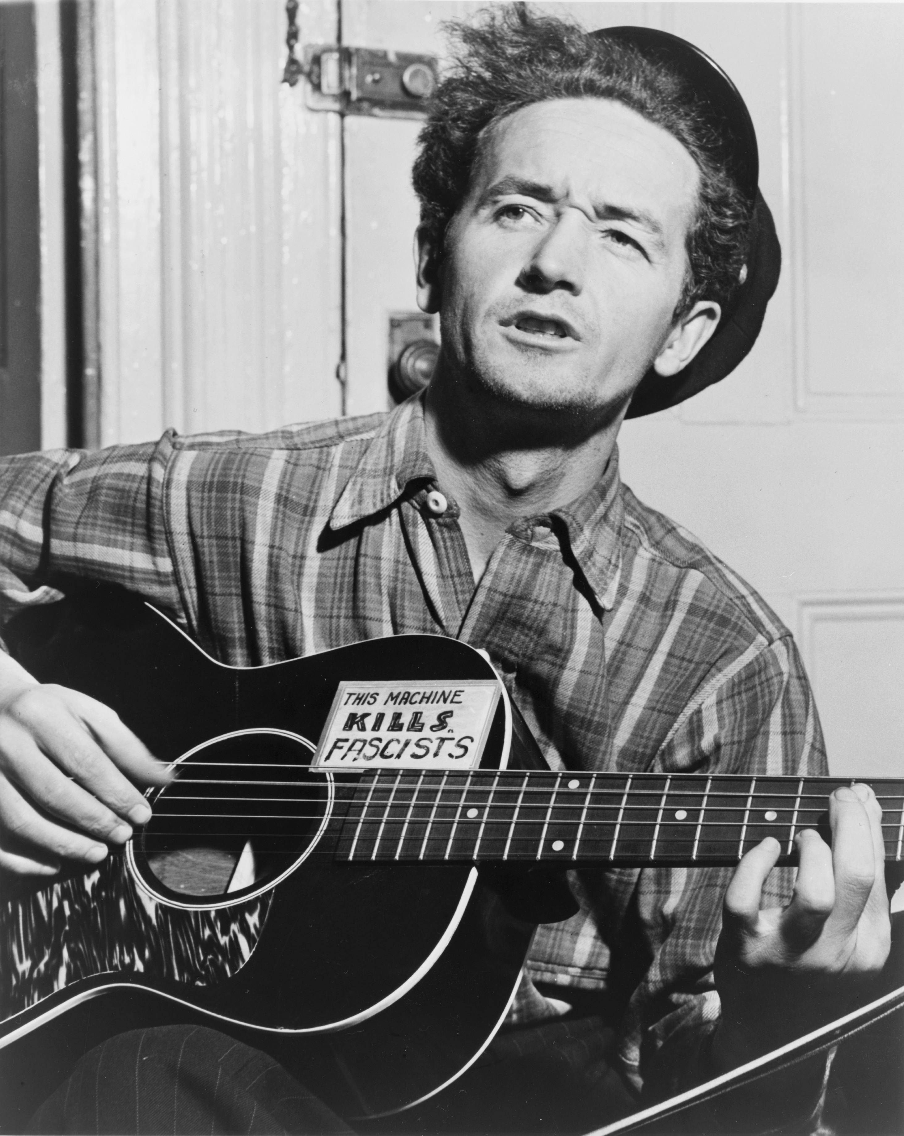 chitarra folk Woody Guthrie